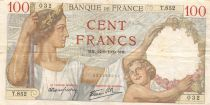 France 100 Francs Sully - 14-09-1939 Serial T.852 - VF