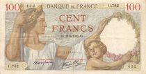 France 100 Francs Sully - 14-09-1939 Serial U.782 - VF