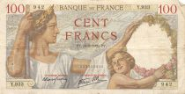 France 100 Francs Sully - 14-09-1939 Serial Y.933 - F+