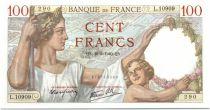 France 100 Francs Sully - 16-05-1940 Serial L.10909