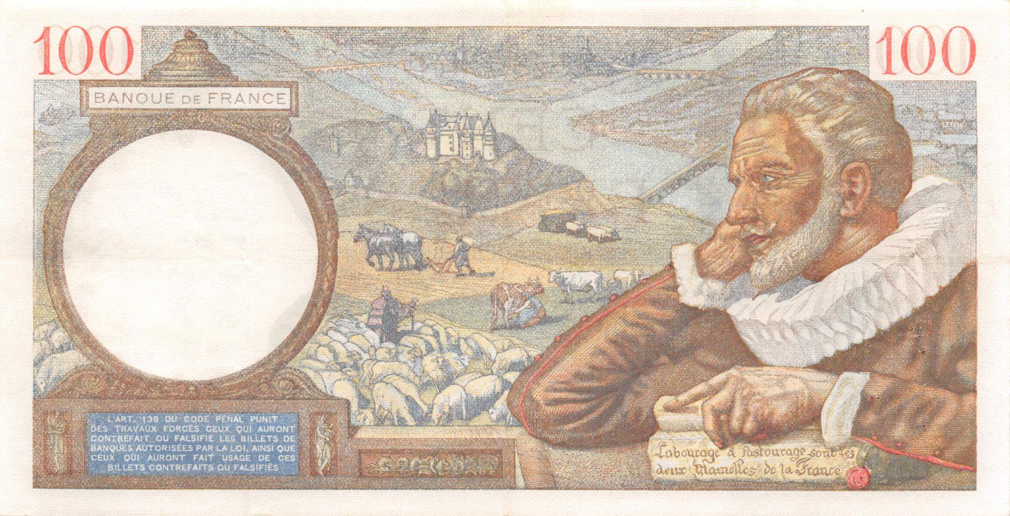 France 100 Francs Sully - 16-05-1940 Série L.10961 - TTB+
