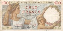 France 100 Francs Sully - 16-08-1940 Serial L.14002 - F+