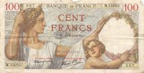 France 100 Francs Sully - 16-08-1940 Serial M.13923 - F