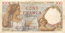 France 100 Francs Sully - 16-08-1940 Serial O.14139 - VF