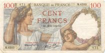 France 100 Francs Sully - 16-11-1939 Serial M.4203 - VF
