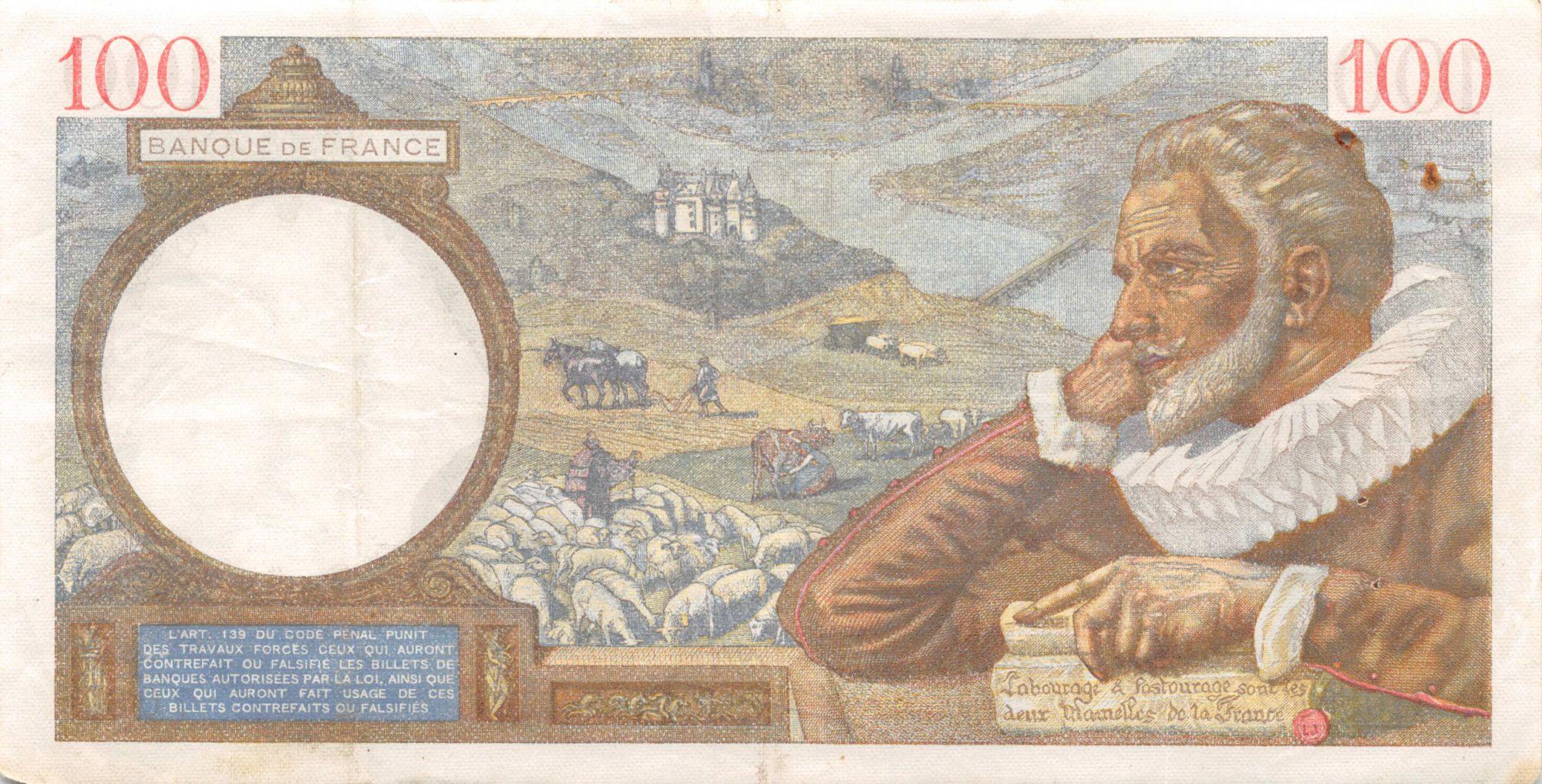 France 100 Francs Sully - 17-04-1941 Série A.21058 - TTB