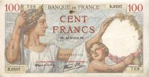 France 100 Francs Sully - 18-04-1940 Serial B.9507 - F+