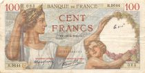 France 100 Francs Sully - 18-04-1940 Serial H.9644 - F+