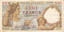 France 100 Francs Sully - 18-12-1941 Serial M.26926 - VF