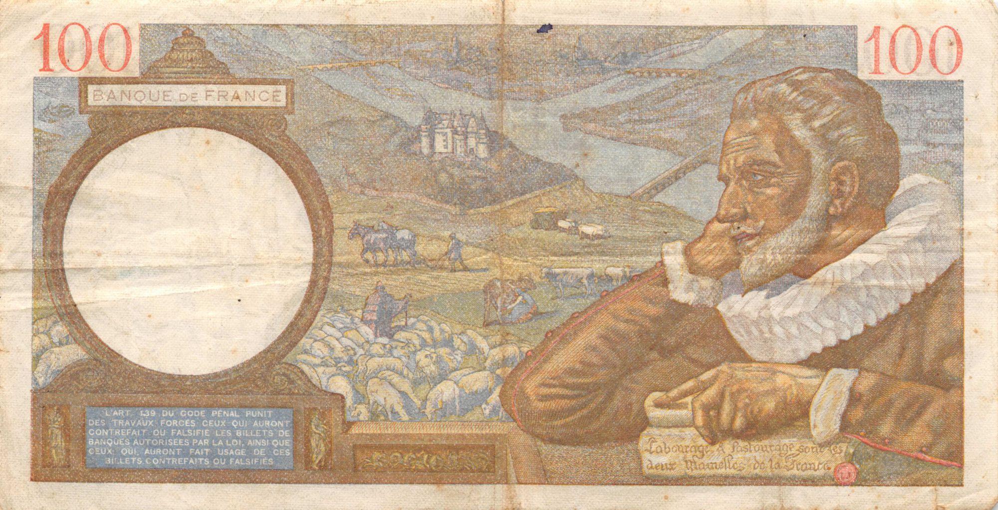 France 100 Francs Sully - 18-12-1941 Série M.26926 - TTB