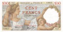 France 100 Francs Sully - 19-03-1942 Série J.29612 - NEUF