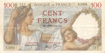 France 100 Francs Sully - 19-10-1939 Serial B.33304 - VF