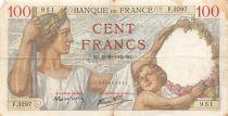 France 100 Francs Sully - 19-10-1939 Serial F.3297 - F+