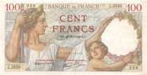 France 100 Francs Sully - 19-10-1939 Serial L.3525 - VF