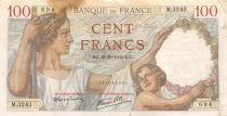 France 100 Francs Sully - 19-10-1939 Serial M.3243 - F+