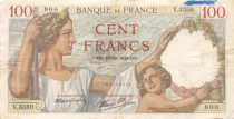 France 100 Francs Sully - 19-10-1939 Serial V.3350 - F