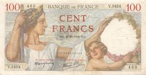 France 100 Francs Sully - 19-10-1939 Serial V.3424 - VF