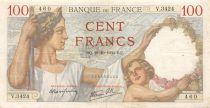 France 100 Francs Sully - 19-10-1939 Serial V.3424 - VF