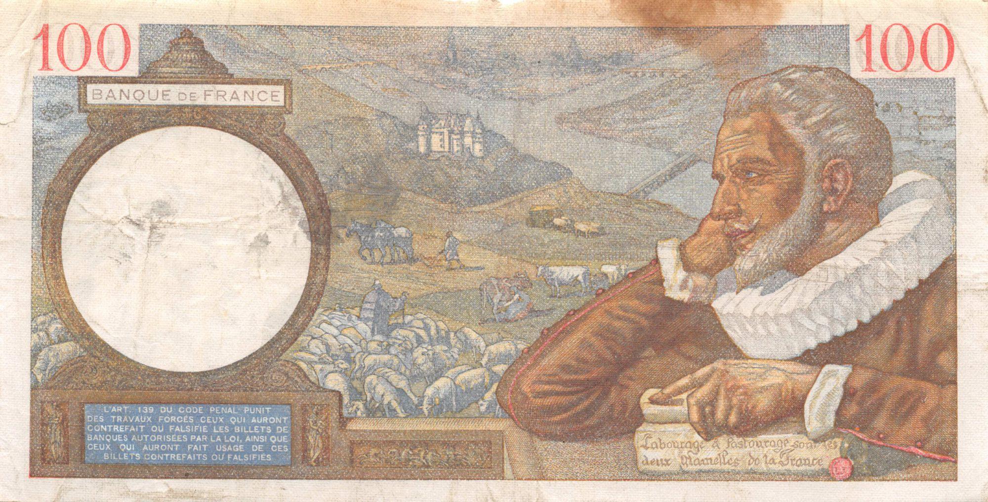 France 100 Francs Sully - 19-10-1939 Série M.3243 - TB+