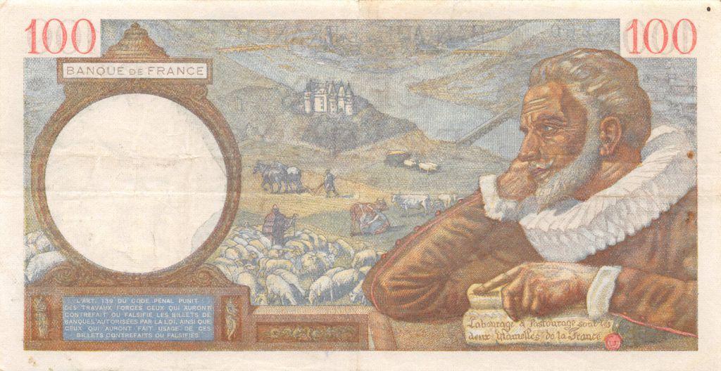 France 100 Francs Sully - 19-12-1940 Série X.17353 - TTB