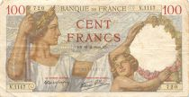 France 100 Francs Sully - 21-09-1939 Serial V.1117 - VF