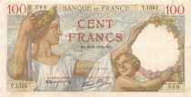 France 100 Francs Sully - 21-09-1939 Serial Y.1351 - VF