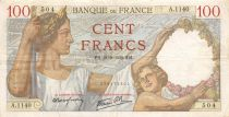 France 100 Francs Sully - 21-09-1939 Série A.1140 - TB