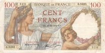 France 100 Francs Sully - 21-12-1939 Serial B.5385 - F