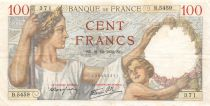 France 100 Francs Sully - 21-12-1939 Serial B.5459 - VF