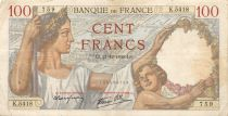 France 100 Francs Sully - 21-12-1939 Serial K.5418 - VF