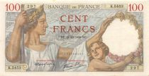 France 100 Francs Sully - 21-12-1939 Serial K.5453 - XF