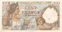 France 100 Francs Sully - 21-12-1939 Serial K.5493 - VF