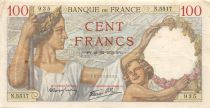 France 100 Francs Sully - 21-12-1939 Serial N.5517 - VF