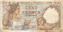France 100 Francs Sully - 21-12-1939 Serial Q.5496 - F