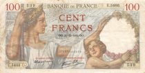 France 100 Francs Sully - 21-12-1939 Serial U.5486 - VF