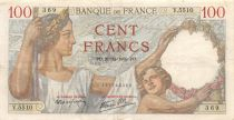 France 100 Francs Sully - 21-12-1939 Serial V.5510 - VF