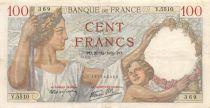 France 100 Francs Sully - 21-12-1939 Serial V.5510 - VF