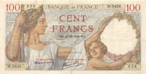 France 100 Francs Sully - 21-12-1939 Serial W.5426 - VF