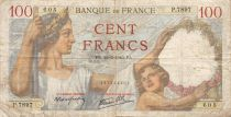 France 100 Francs Sully - 22-02-1940 Serial P.7897 - F