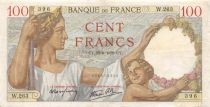 France 100 Francs Sully - 22-06-1939 Serial W.263 - VF