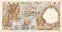 France 100 Francs Sully - 22-06-1939 Serial Y.201 - VF