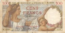 France 100 Francs Sully - 22-08-1940 Serial M.14550 - F+