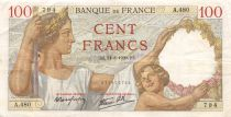 France 100 Francs Sully - 24-08-1939 Serial A.480 - VF