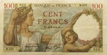 France 100 Francs Sully - 24-08-1939 Serial M.507 - VF