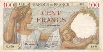 France 100 Francs Sully - 24-08-1939 Serial U.439 - VF