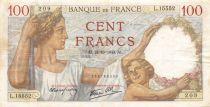France 100 Francs Sully - 24-10-1940 Serial L.15552 - VF