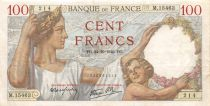 France 100 Francs Sully - 24-10-1940 Serial M.15463 - VF
