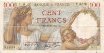 France 100 Francs Sully - 24-10-1940 Serial N.15578 - F