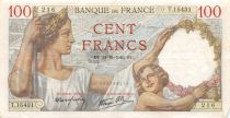 France 100 Francs Sully - 24-10-1940 Serial T.15431 - VF