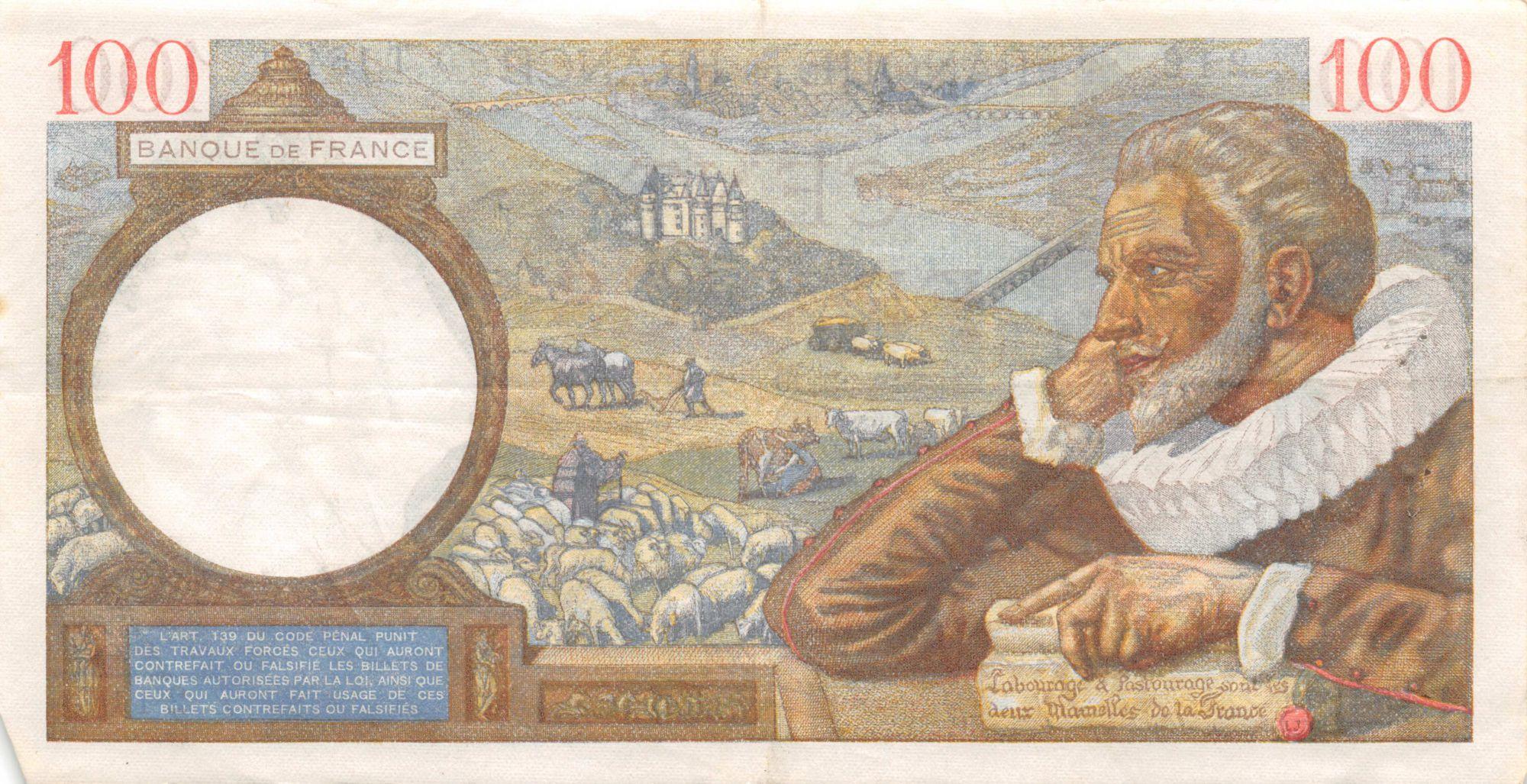 France 100 Francs Sully - 24-10-1940 Série T.15431 - TTB